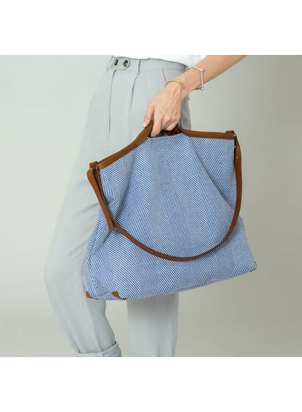 JO HANDBAGS Jo Handbags XL Linen Shopper