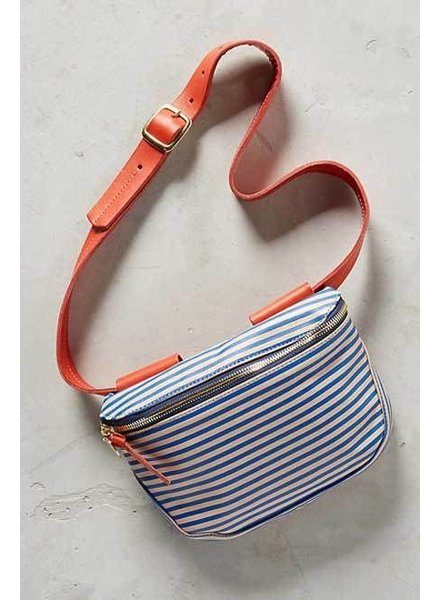 CLARE V. Clare V Blue Bather Stripe Fanny Pack
