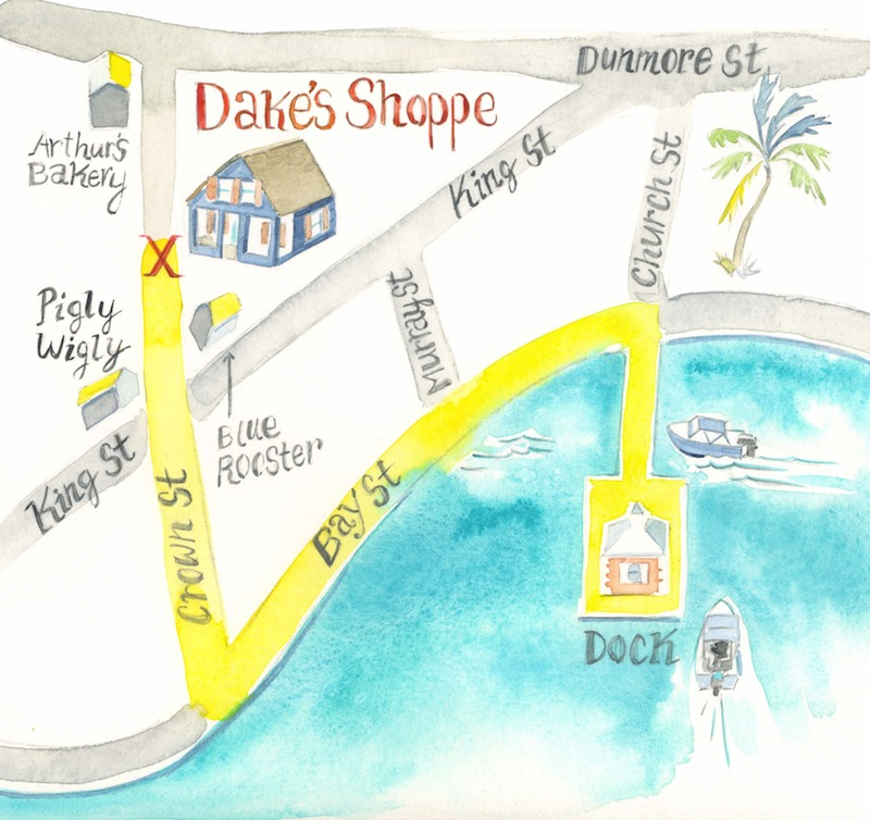 Dake's Shoppe Map