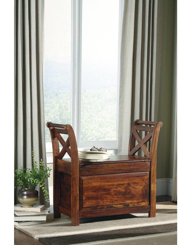 Signature Design Abbonto, Bench, Warm Brown T800-112