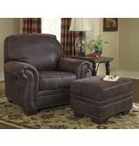 Signature Design Baltwood, Pressback Chair and Ottoman, Espresso 2570073