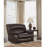 Signature Design Damacio, Zero Wall Power Wide Recliner, Dark Brown U9820082