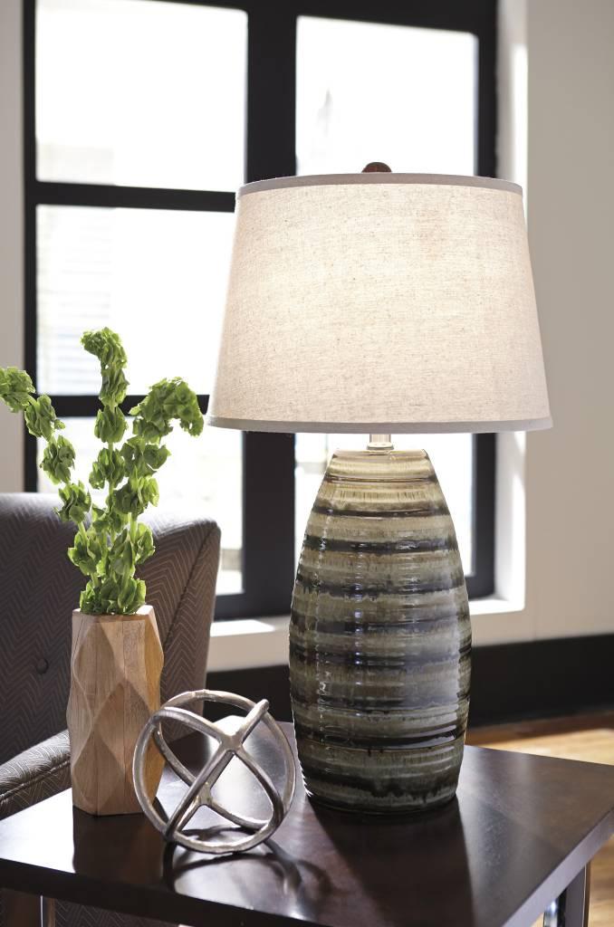 Signature Design Darlon, Ceramic Table Lamp, Brown L100514