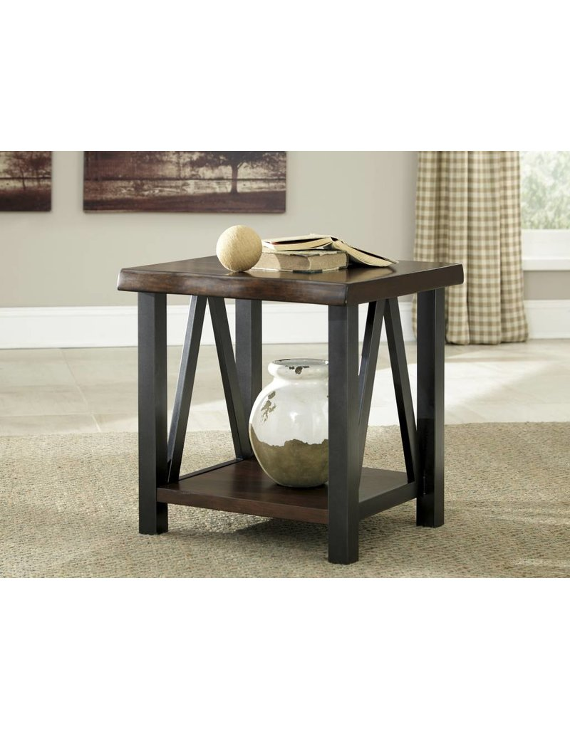 Signature Design Esmarina, Rectangular End Table, Walnut Brown T815-3