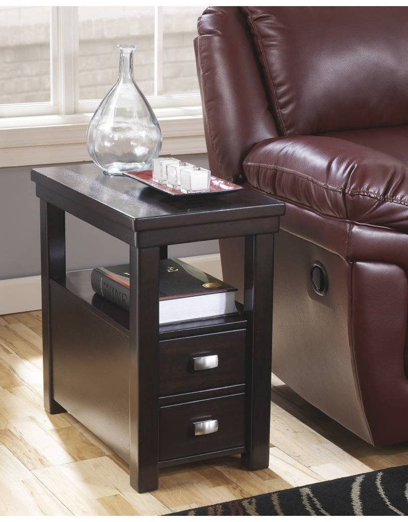 Signature Design Hatsuko, Side End Table, Dark Brown T864-7