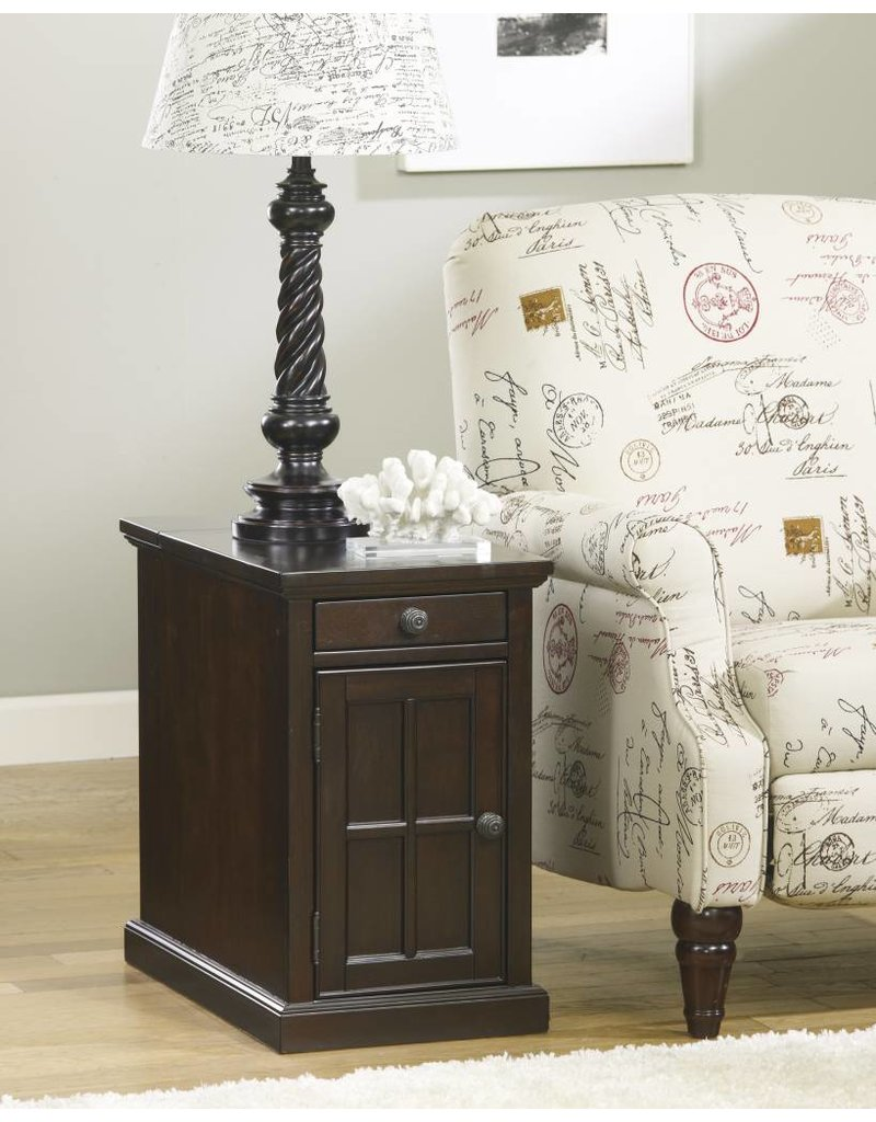 Signature Design Laflorn, Chairside End Table, Dark Brown T127-668