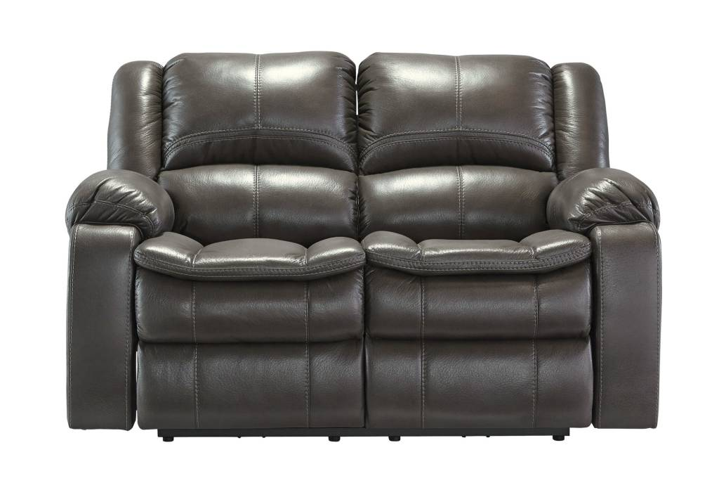 Signature Design Long Knight, Reclining Powered Loveseat, Gray 8890674
