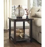 Signature Design Mestler, Rectangular End Table, Rustic Brown T580-3