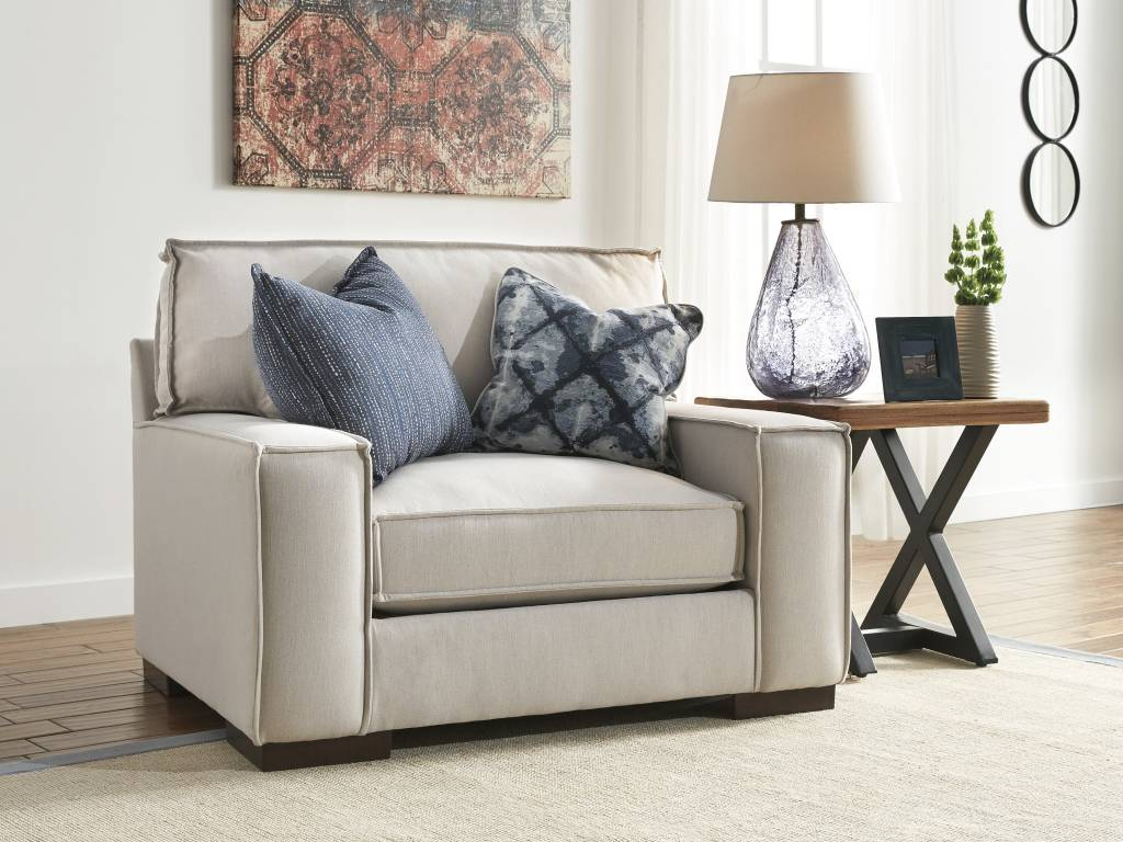 Signature Design Kendleton, Chair and a Half, Stone 5470423