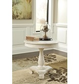 Signature Design Mirimyn, Round Accent Table, White T505-106