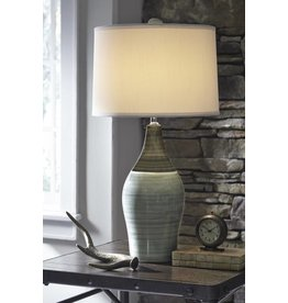 Signature Design Niobe, Ceramic Table Lamp Set of 2, Multi-Gray L123884