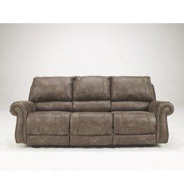 Signature Design Oberson, Reclining Power Sofa, Gunsmoke 7410097