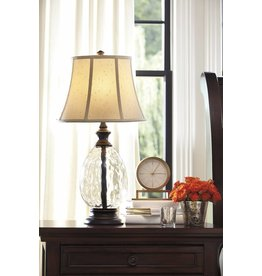 Signature Design Olivia, Glass Table Lamps Set of 2, Bronze Finish L440234