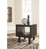 Signature Design Parlone, Rectangular End Table, Brown/Black T881-3
