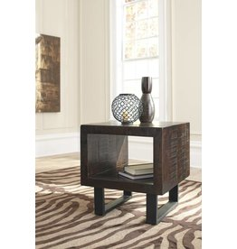 Signature Design Parlone, Rectangular End Table, Brown/Black T881-3