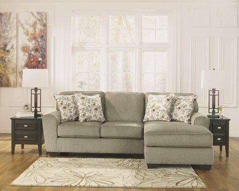 Signature Design Patola Park, Left Arm Facing Sofa,  RAF corner Chaise, Patina 12900 55, 17