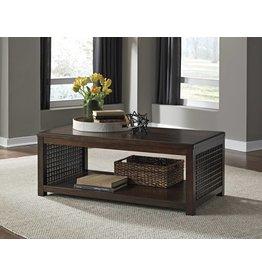 Signature Design DISCONTINUED Roxenton, Rectangular Cocktail Table, Brown T885-1