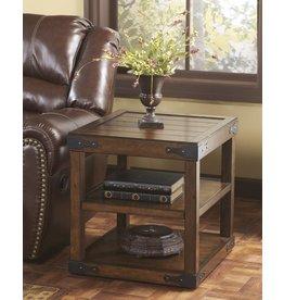 Signature Design Sheperdsville, Rectangular End Table, Rustic Brown T588-3