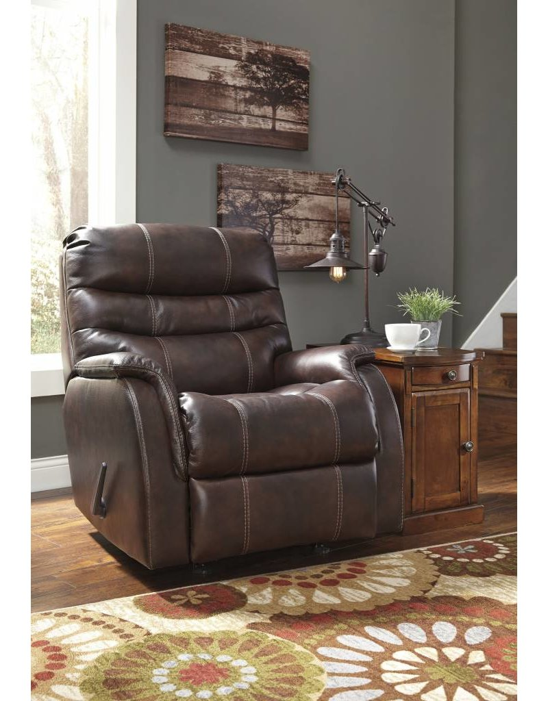 Signature Design Bridger, Power Rocker Recliner, Walnut 3930098