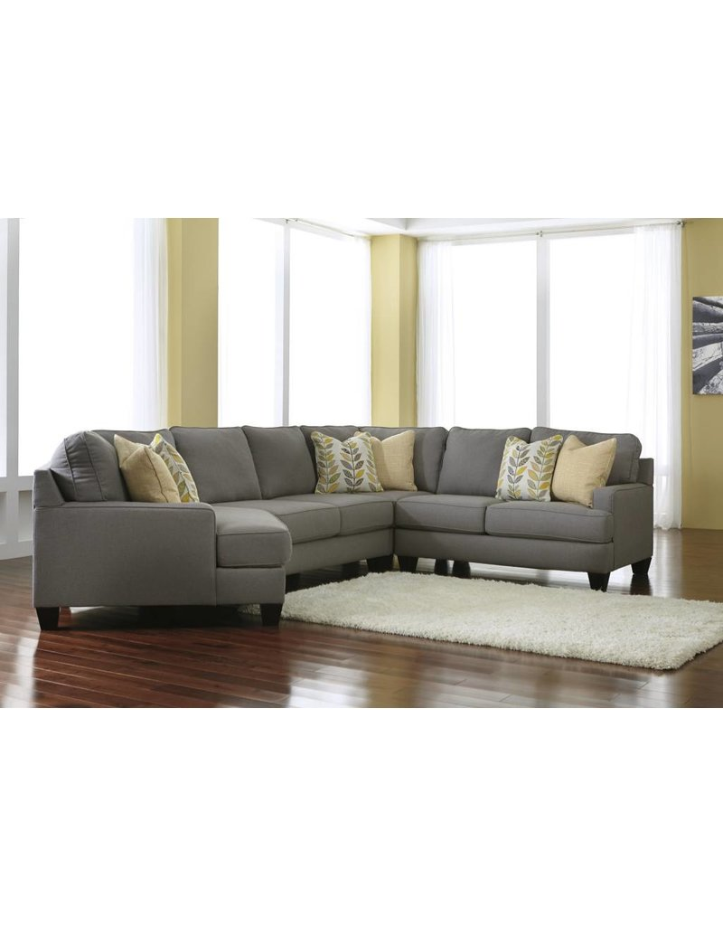 Signature Design Chamberly, Right Arm Facing Loveseat, Alloy 2430256