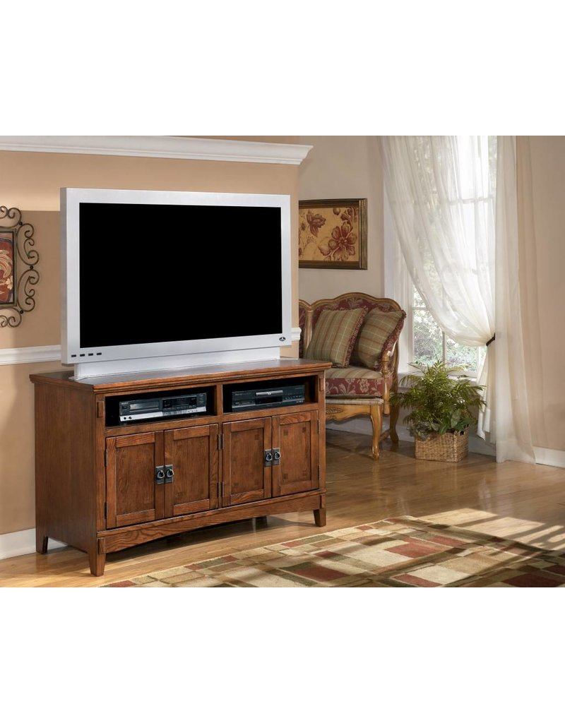 Signature Design Cross Island, Medium TV Stand, Medium Brown W319-28