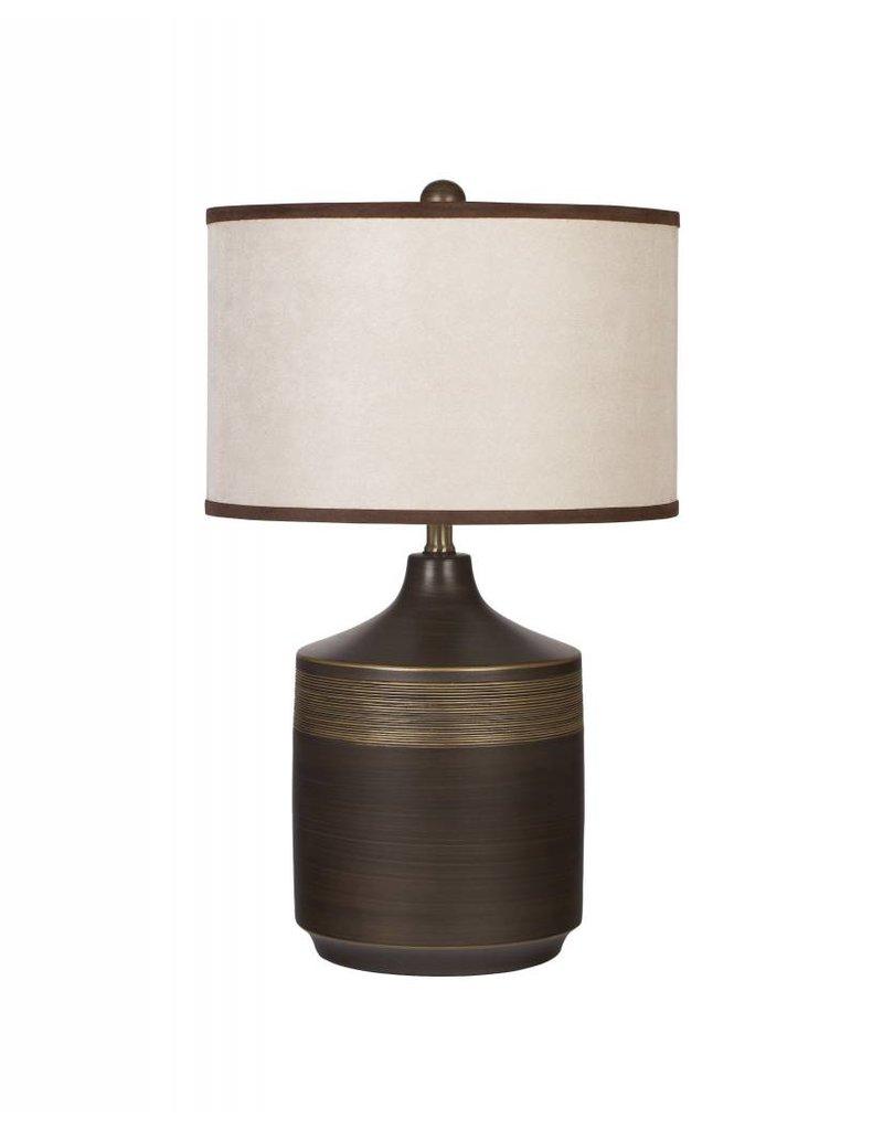Signature Design Karissa, Ceramic Table Lamp Set of 2, Brown L129914