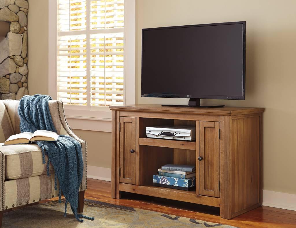 signature design macibery tv stand light brown w785 18 - Light Colored Tv Stands