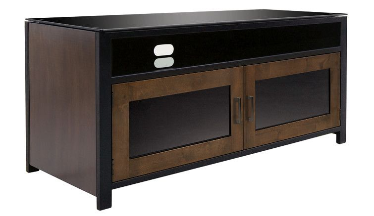Bell'O Bell'O Cocoa/Matte Black Finish Wood A/V Cabinet