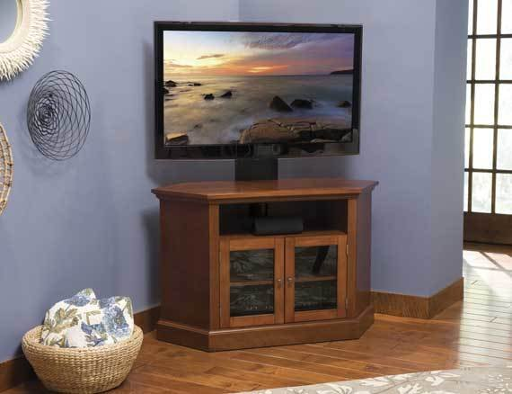 Sanus Sanus BFAV48 Corner TV Stand Chestnut