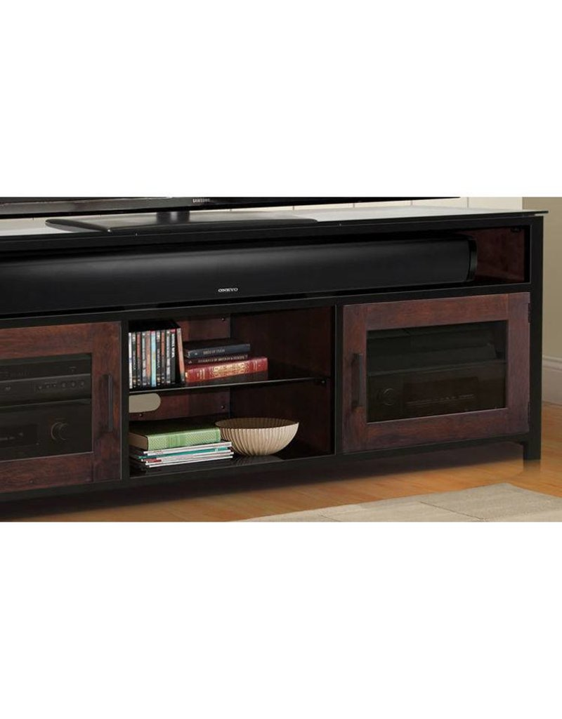 Bell'O Bell'O Bedford Cocoa/Matte Black Finish Wood A/V Cabinet
