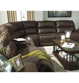 Signature Design Luttrell, 6 piece Powered Reclining Sectional, Espresso 93101 19, 46, 77, 62, 57, 58