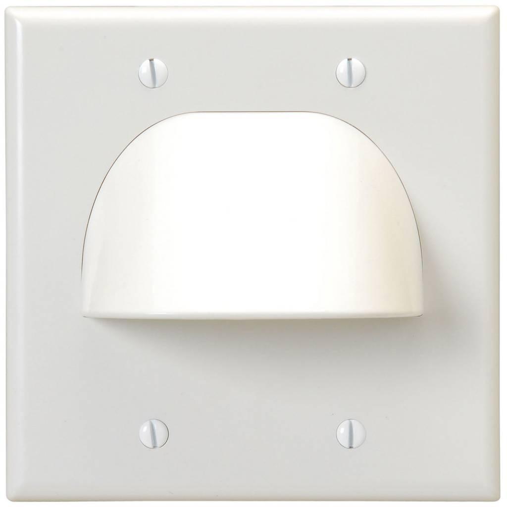 Standard 2 Gang Bulk Wire Plate White