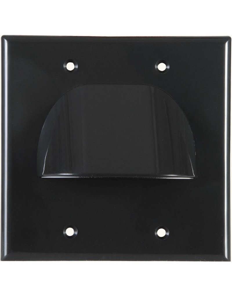 Standard 2 Gang Bulk Wire Plate Black