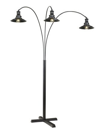 Signature Design Sheriel, Metal Arc Lamp, Black, L725059