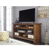 Signature Design Ralene, XL TV Stand w/FRPL/Audio OPT, Medium Brown, W594-68