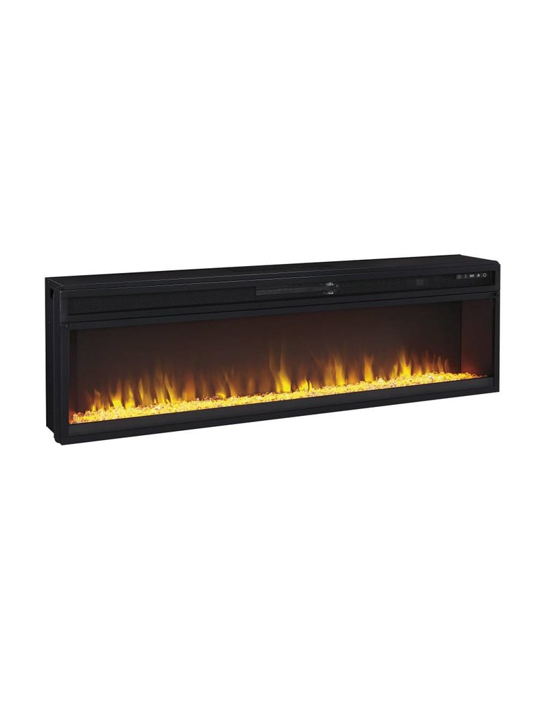 Signature Design Entertainment Accessories, Wide Fireplace Insert, Black, W100-22