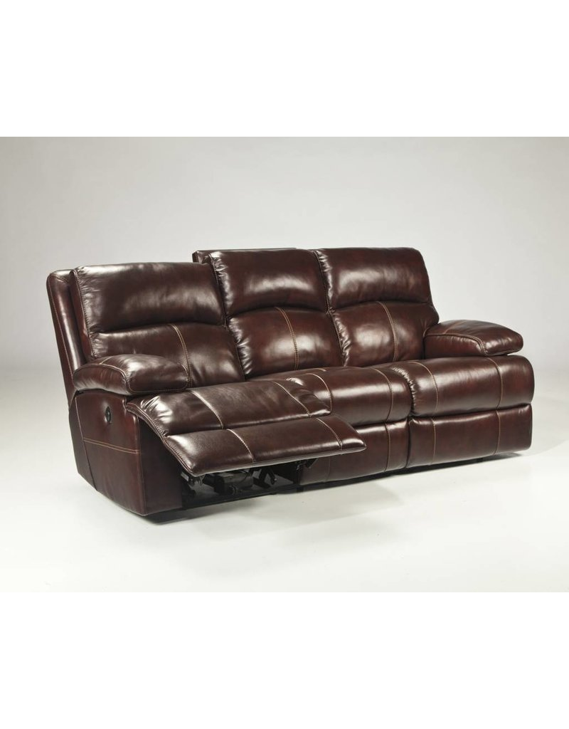Signature Design Lensar, Reclining Power Sofa, Burgundy, U9900087
