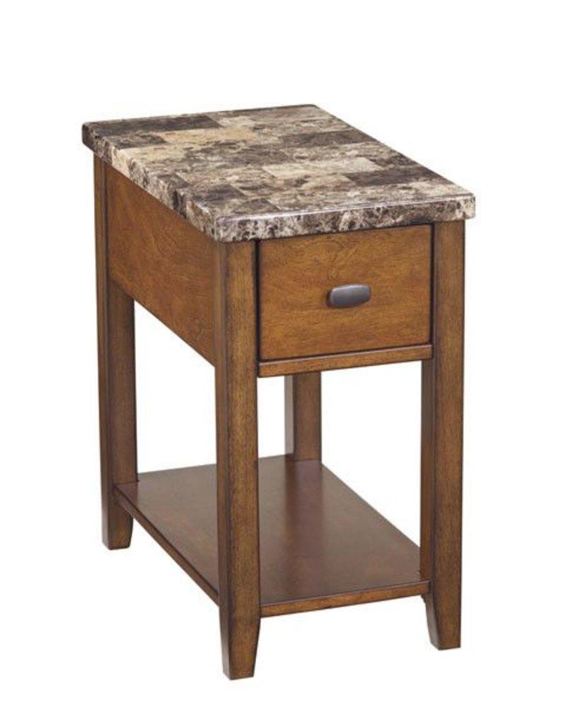 Signature Design Breegin, Chair Side End Table, Brown, T007-158