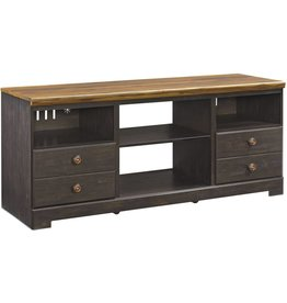 Signature Design Maxington, LG TV Stand w/Fireplace Option, Two Tone, W220-68