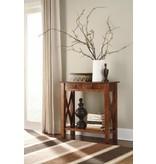 Signature Design Abbonto, Console Sofa Table, Warm Brown, T800-114