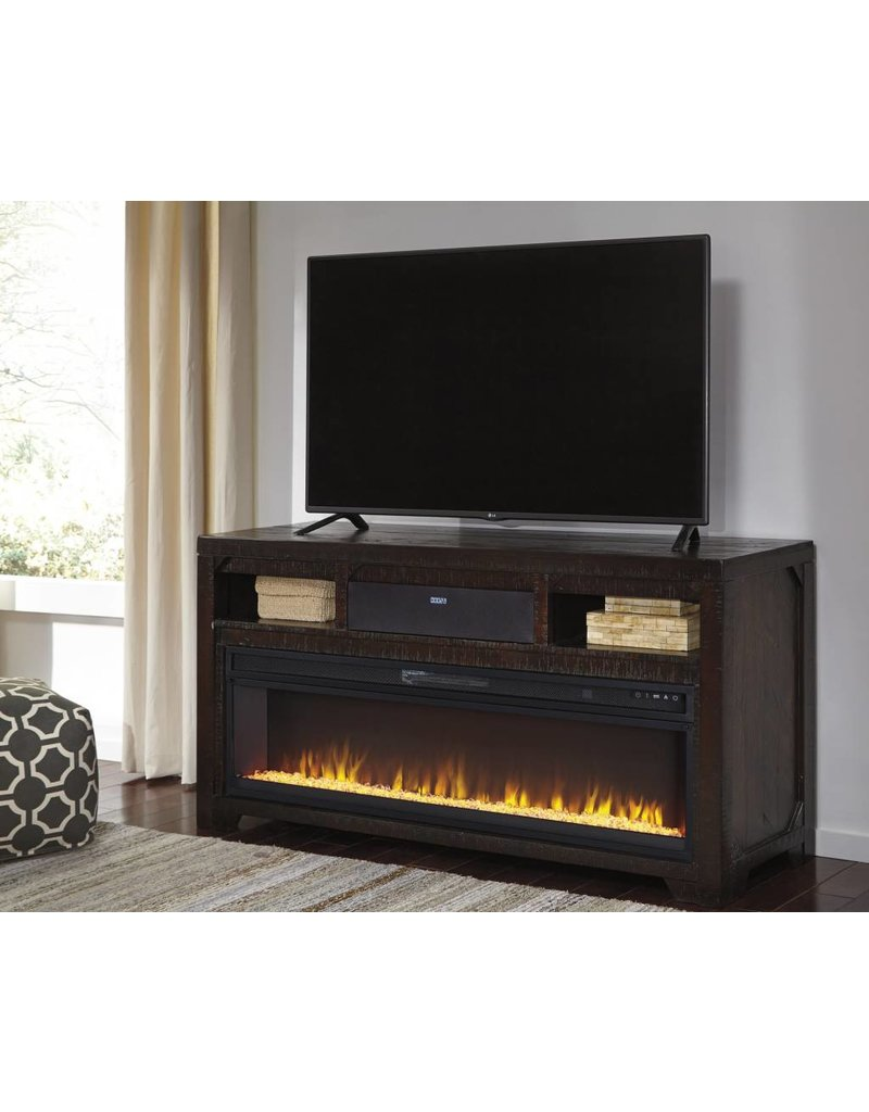 Signature Design Rogness Large Tv Stand W Fireplace