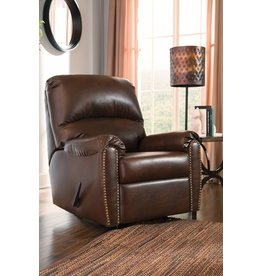 Signature Design Lottie,  DuraBlend Rocker Recliner - Chocolate 3800025