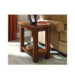 Signature Design Hallibay, Chair Side End Table, Two Tone Brown, T579-7