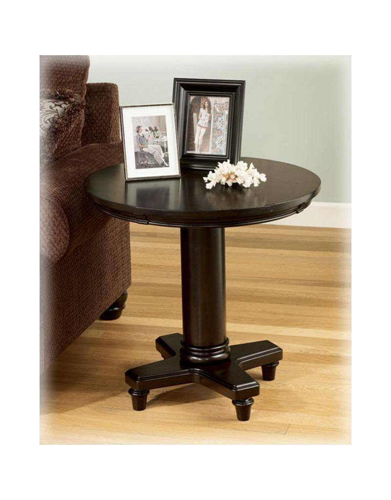 Signature Design Marcella, Round End Table, Dark Brown, T518-6