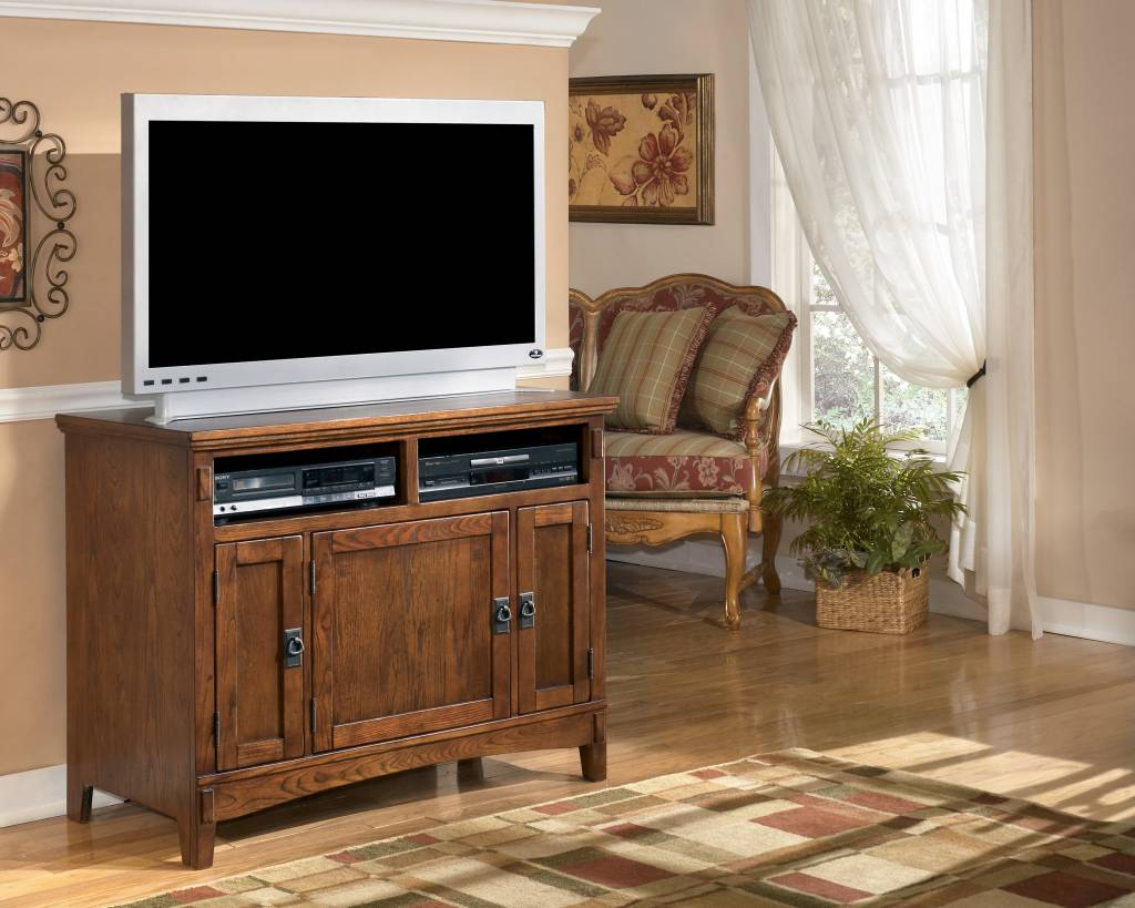 Signature Design Cross Island TV Stand - Medium Brown, W319-18