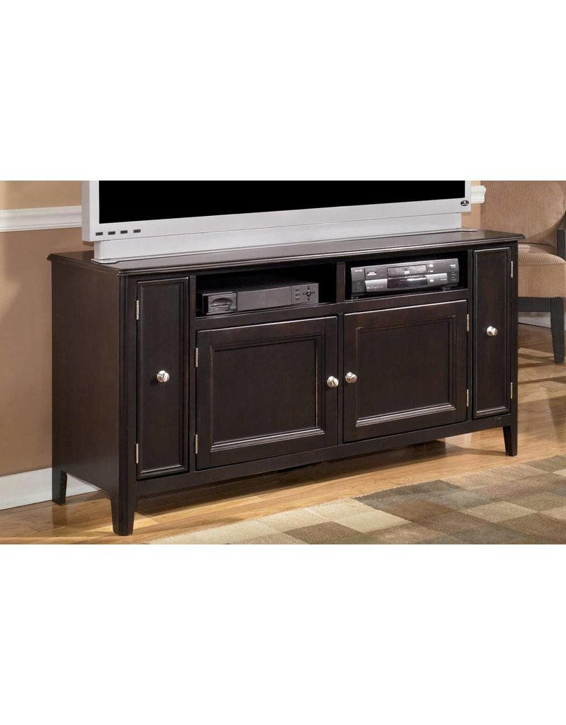 Signature Design Carlyle Large TV Stand - Almost Black, W371-38