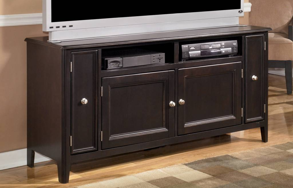 Signature Design DISCONTINUED Carlyle Large TV Stand - Almost Black, W371-38