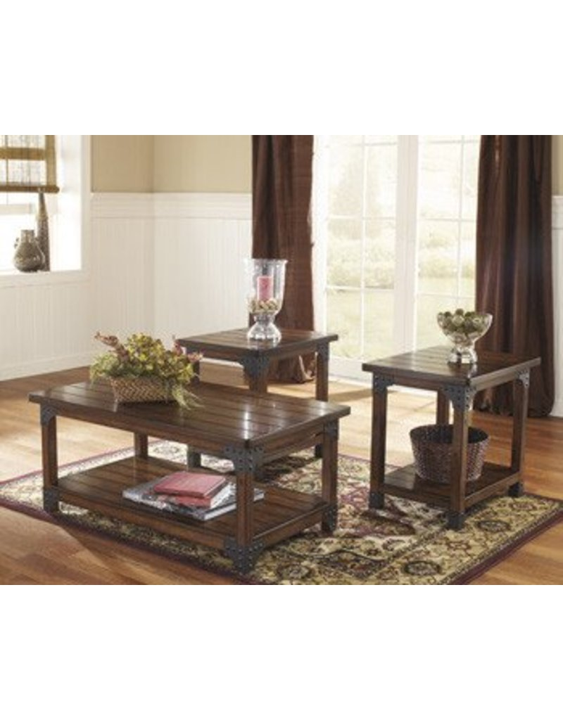signature design murphy occasional table set 3 cn murphy kitchen table Signature Design Murphy Occasional Table Set 3 CN Medium Brown