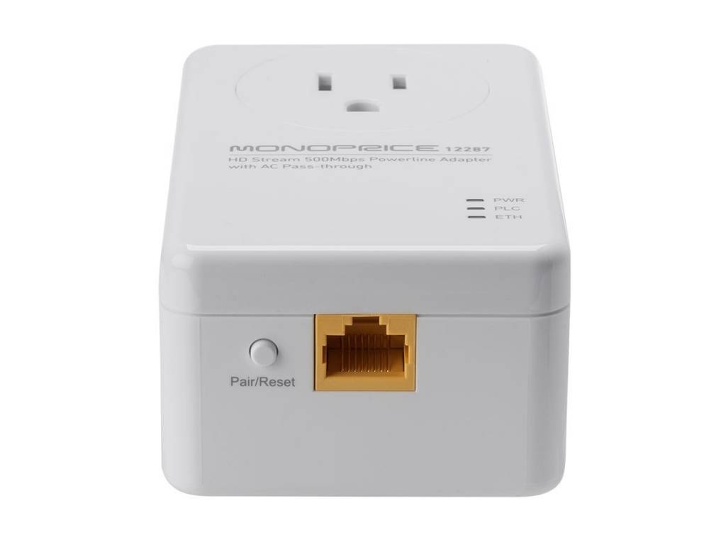 HD Stream 500Mbps Powerline Adapter w/ AC pass-through