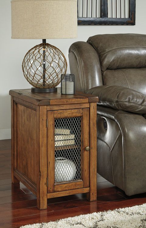 Signature Design Tamonie Chair Side End Table - Medium Brown
